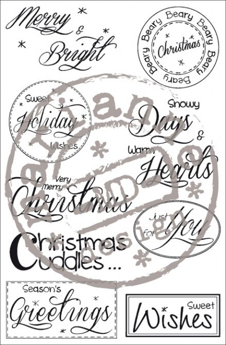 SF1118 ~ STAMPFAIRY - Christmas Sentiments ~  Marianne Designs 9 Clear stamps